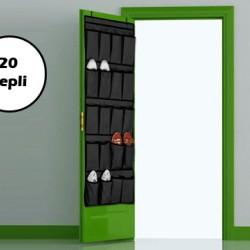 20 Cepli Kapı Arkası Çok Amaçlı Organizer - Siyah