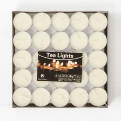 Kokusuz Tealight Mum (50 Adet) - Beyaz