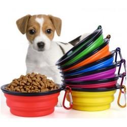 Portatif Mama Kabı Katlanabilir Evcil Hayvan Su Kabı