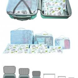 Bavul İÇİ DÜZENLEYİCİ Organizer 6 lı Set - MAVİ
