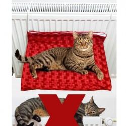 Kalorifer Askılıklı Kedi Yatağı Yıkanabilir - Pembe