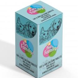 Kedi Kalsiyum Vitamin D Katkısı - Pet's Family 75 Tablet
