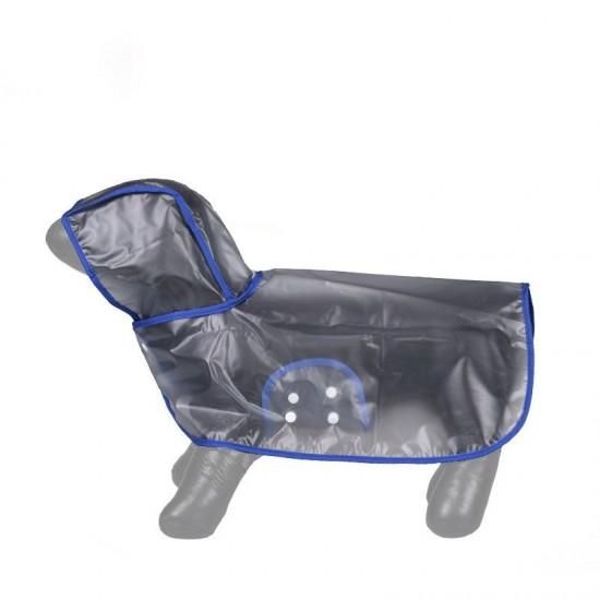 Köpek Yağmurluğu - Mavi - (X Large)