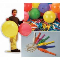 Lastikli Punc Balon - 100 Adet