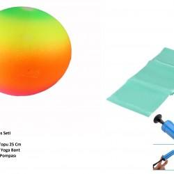 Pilates Seti - Top - Pompa - Bant
