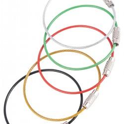 Renkli Çelik Tel Anahtarlık - 5 Adet