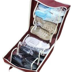 Shoe Tote Ayakkabı Saklama  ve Taşıma  Çantası (Bordo)